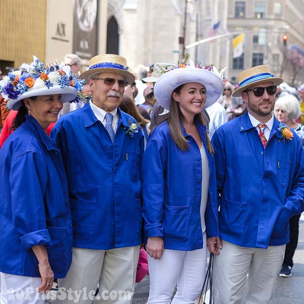 Blue easter coat at the New York Easter Parade | 40plusstyle.com