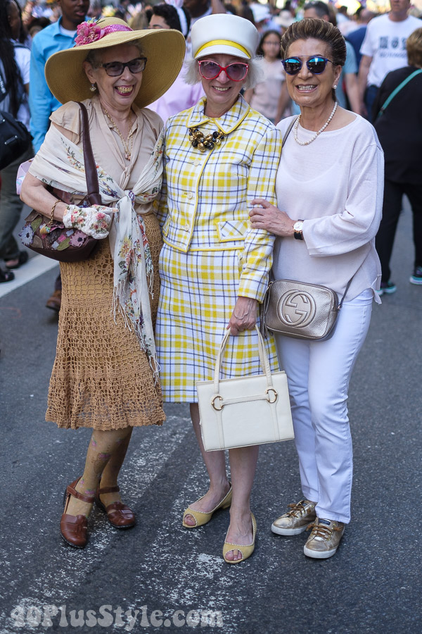 Bright and bold plaid at the New York Easter Parade | 40plusstyle.com