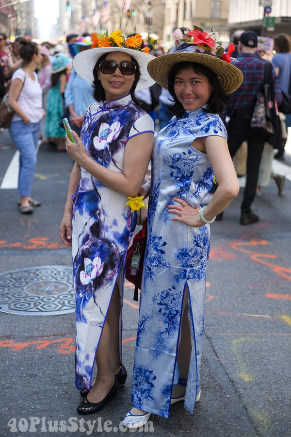 Traditional Cheongsam dress at the New York Easter Parade | 40plusstyle.com