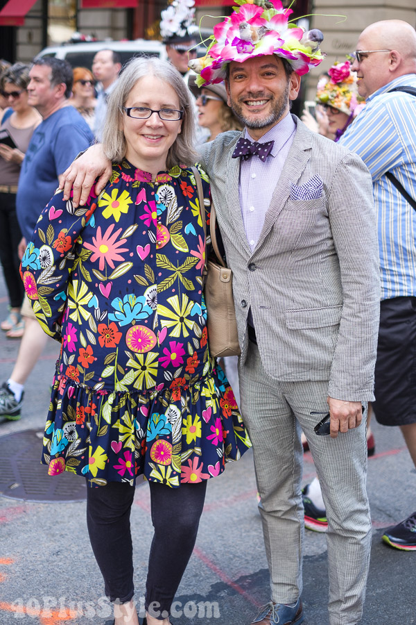 Lovely vibrant prints at the New York Easter Parade | 40plusstyle.com