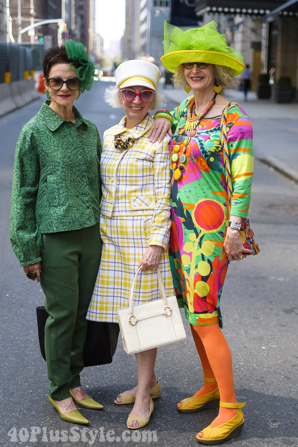 More fun and chic looks at the New York Easter Parade | 40plusstyle.com
