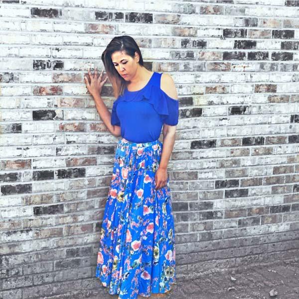 Floral skirt   40plusstyle.com