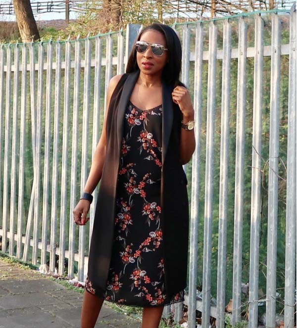 Floral dress with cardigan   40plusstyle.com
