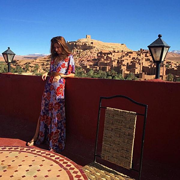 Modern nomad chic Kimono Dress Cynthia Paez Bowman Morocco Ait Ben Haiddou | 40+ Style
