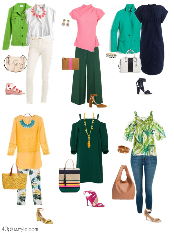 How to wear this season's bright green | 40plusstyle.com