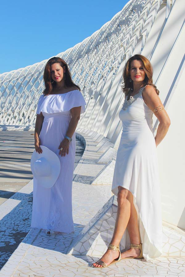 Greek-chic style inspiration for women over 40 with Nikki and Ornella of My ONO Lifestyle