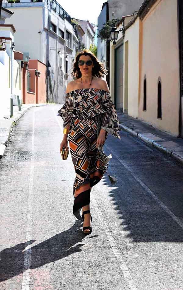 Resort wear maxi dress   40plusstyle.com