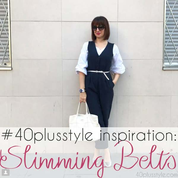 inspiration: slimming belts for a small waist and to hide your belly | 40plusstyle.com