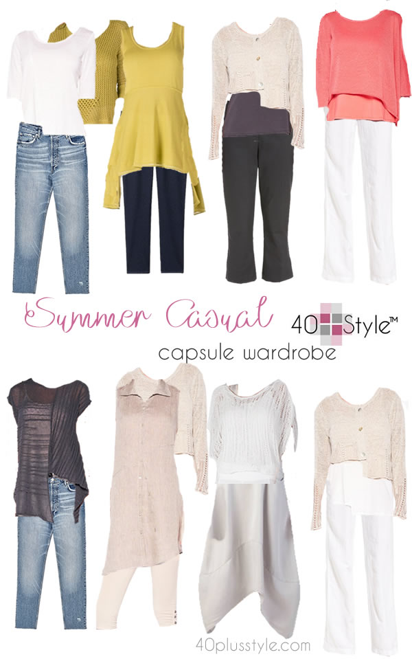 A capsule wardrobe for summer | 40plusstyle.com