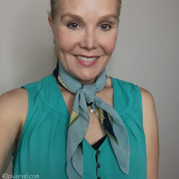 How to tie a silk scarf   40plusstyle.com
