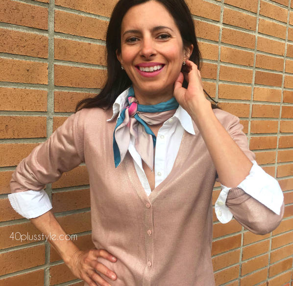 How to style a cardigan for spring   40plusstyle.com