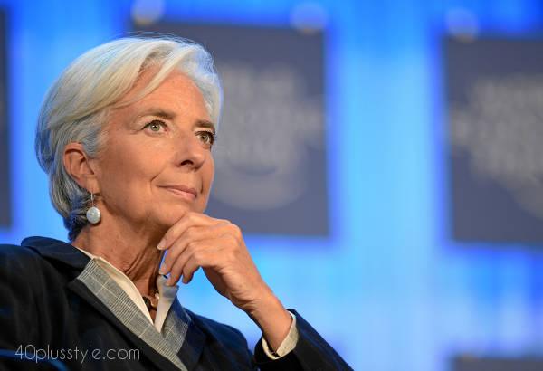 gray inspiration Christine Lagarde | $0plusstyle.com