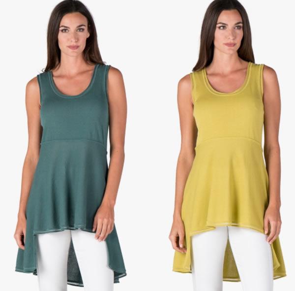 colorful asymmetrical tunic | 40plusstyle.com