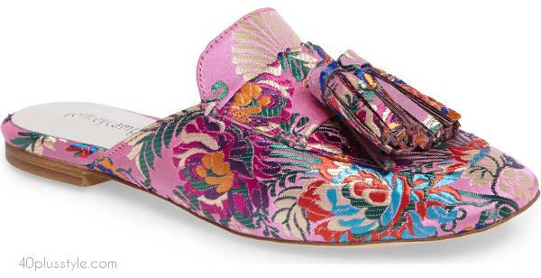 Tassel loafer mule | 40plusstyle.com