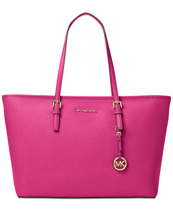 hot pink tote bag by Michael Kors | 40plusstyle.com