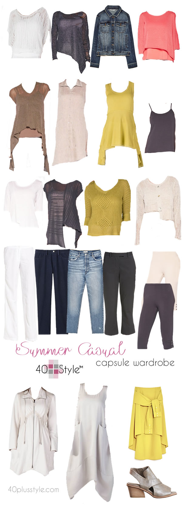 A capsule wardrobe for summer that is comfortable AND chic | 40plusstyle.com