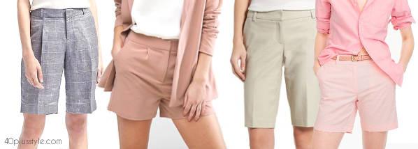 elegant, classic trouser shorts | 40plusstyle.com