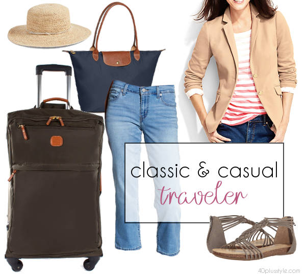 stylish travel outfits for the casual woman | 40plusstyle.com