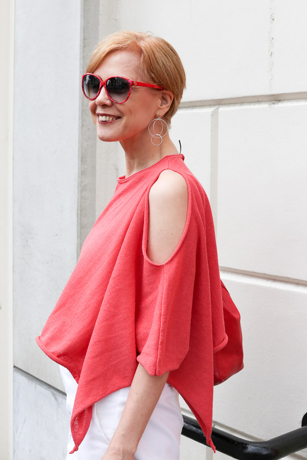 Embracing color and a new asymmetrical hairstyle | 40plusstyle.com