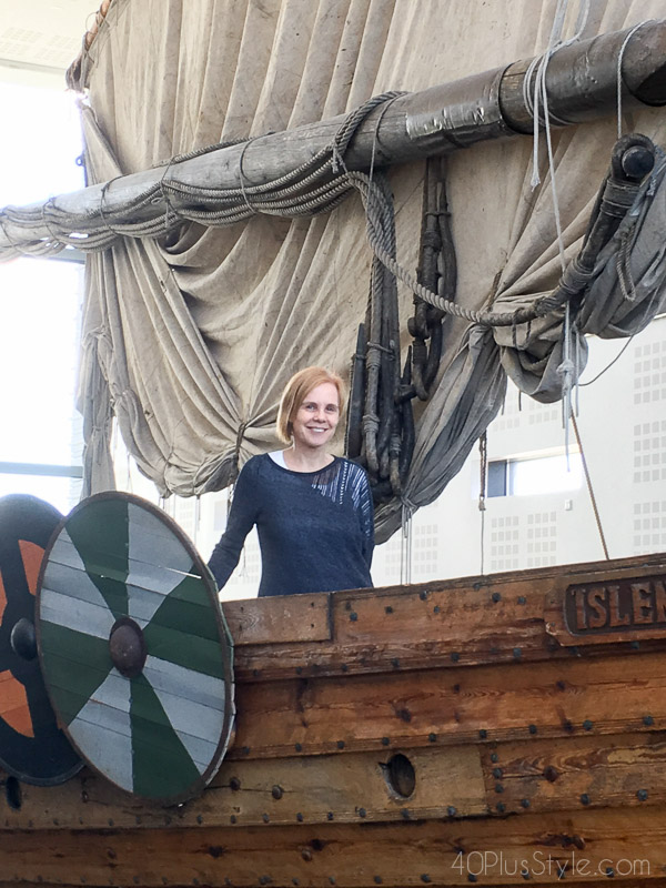 On a galleon in Iceland | 40plusstyle.com