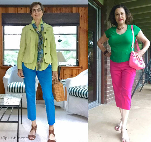 40+ Style Club Members show how to color block - 40plusstyle.com