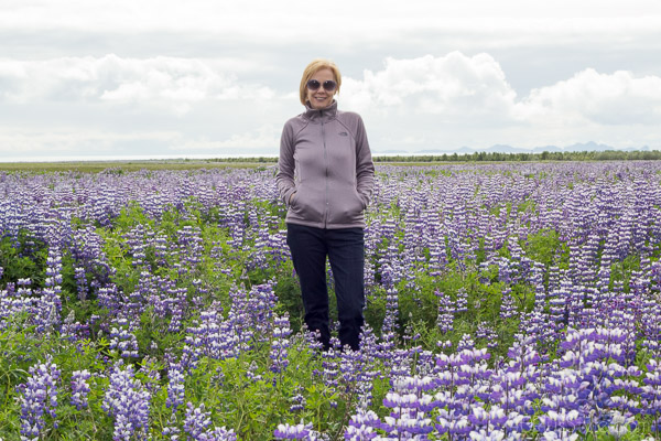 A lovely lavender meadow in Iceland | 40plusstyle.com