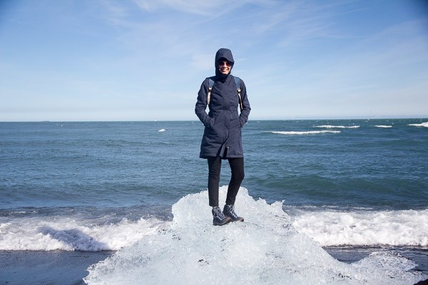 On an iceberg in Iceland! | 40plusstyle.com
