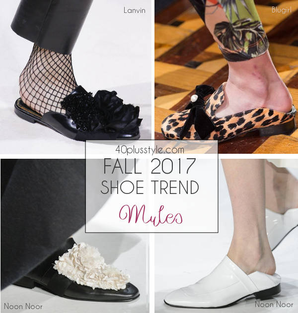 fall 2017 footwear trends for women | 40plusstyle.com