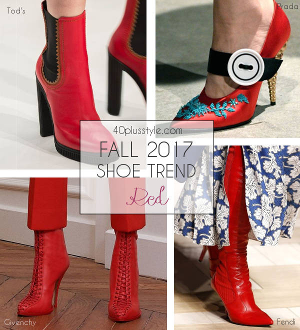 fall 2017 red shoe trend | 40plusstyle.com