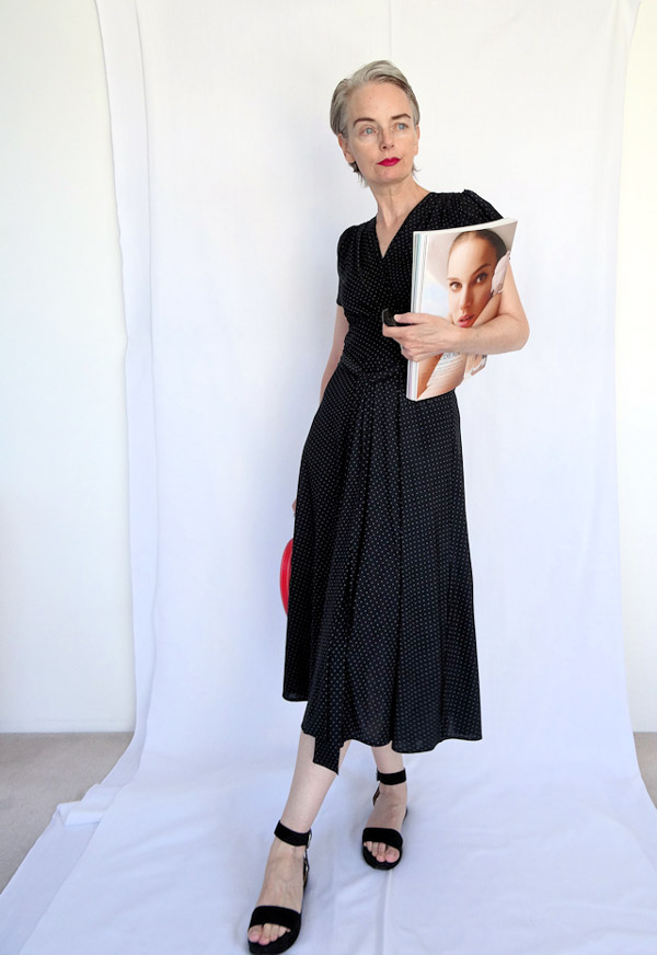 Chic and elegant in a black dress   40plusstyle.com