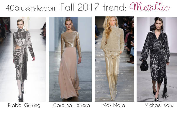 how to wear the metallic fashion trend | 40plusstyle.com