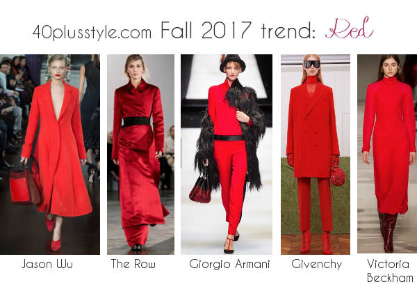 fall 2017 fashion color trends for women | 40plusstyle.com