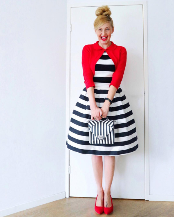 A bold outfit with stripes | 40plusstyle.com