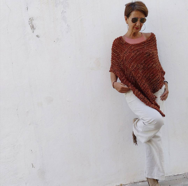 Chic outfits with a cover-up poncho | 40plusstyle.com