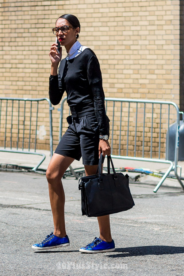 Androgynous style in New York | 40plusstyle.com