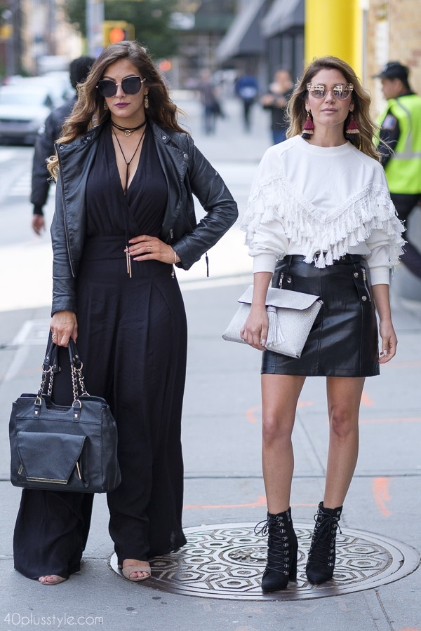 Bohemian and edgy looks in black and white | 40plusstyle.com