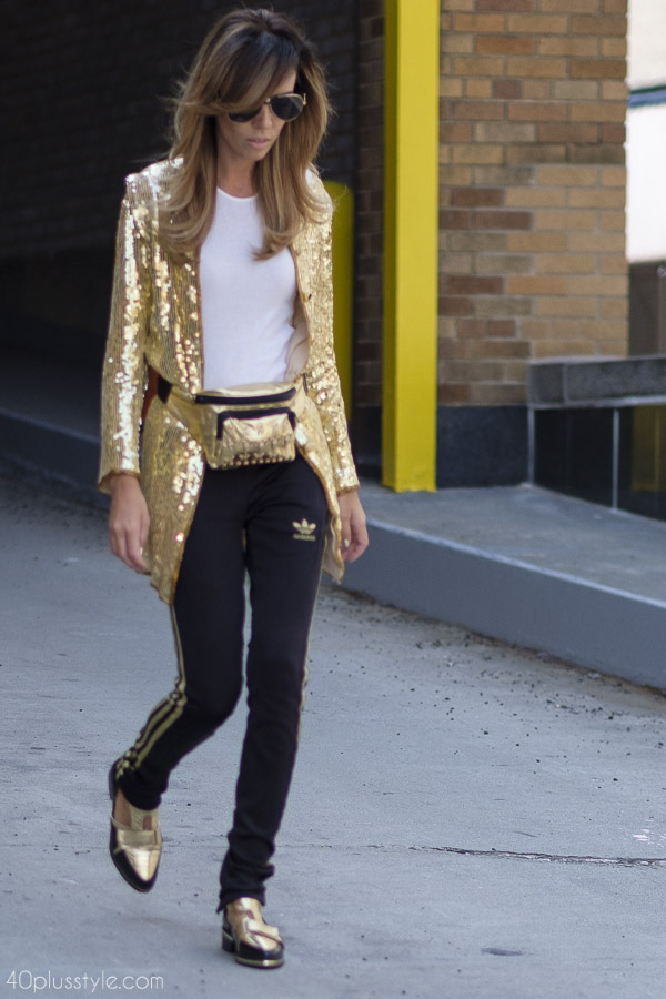 Gold coats are always a glamorous choice | 40plusstyle.com