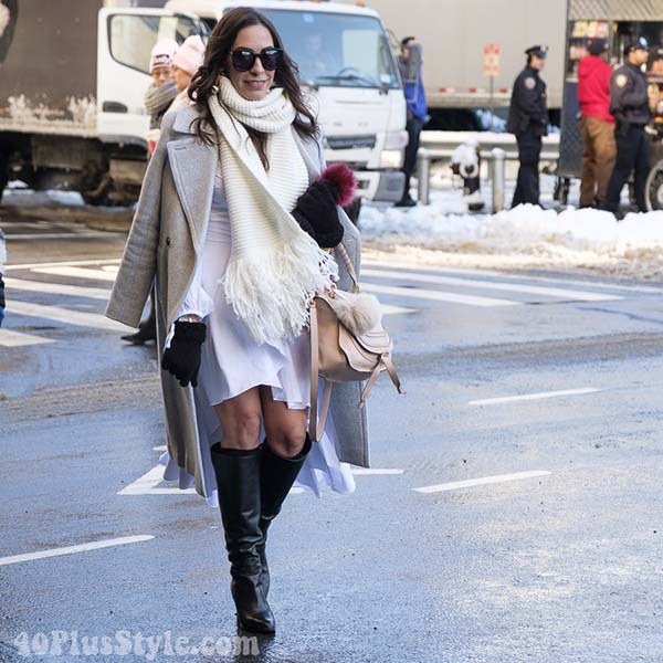 Stylish all white outfits for winter | 40plusstyle.com