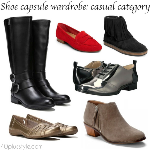 Building a shoe capsule wardrobe: casual category