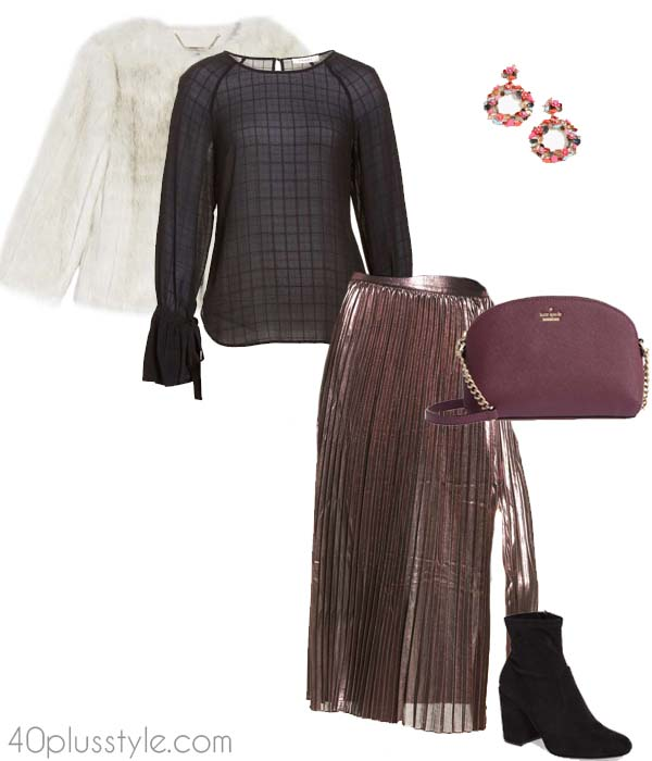 Metallic pieces you can wear to a christmas party | 40plusstyle.com