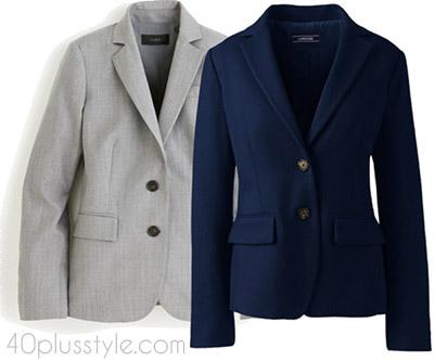Items to splurge on: a classic blazer | 40plusstyle.com