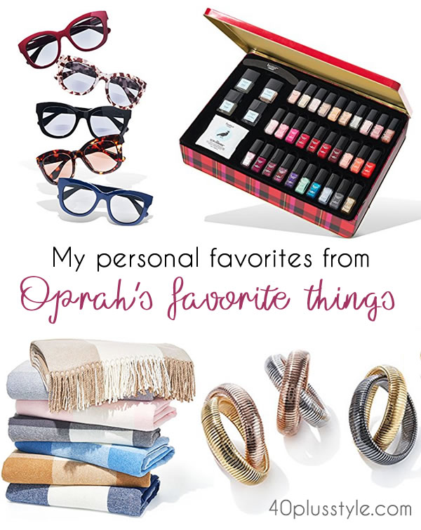 My favorite fashion and beauty picks from Oprah's favorite things - 11 is my top pick, what's yours? | 40plusstyle.com