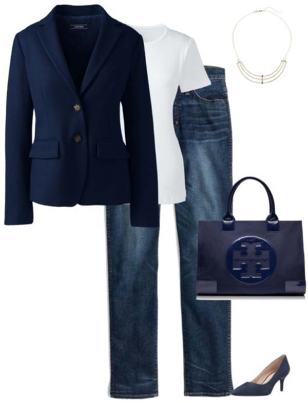 Monochromatic outfit looks | 40plusstyle.com