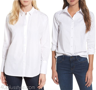 Items to splurge on: classic white blouses | 40plusstyle.com