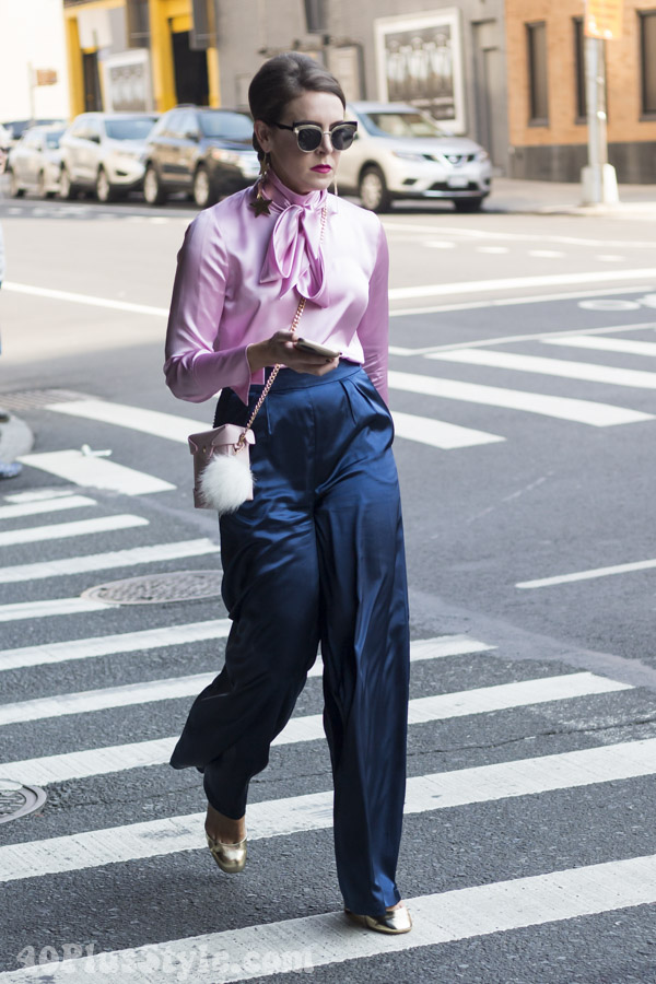 A stylish all silk look | 40plusstyle.com
