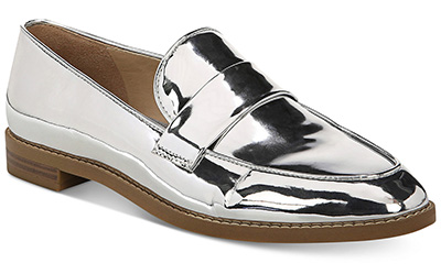 loafers silver shoes | 40plusstyle.com
