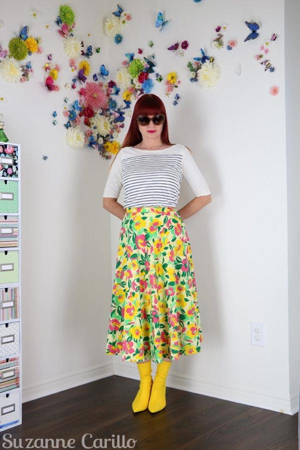 Mix prints for a fun eclectic look! | 40plusstyle.com