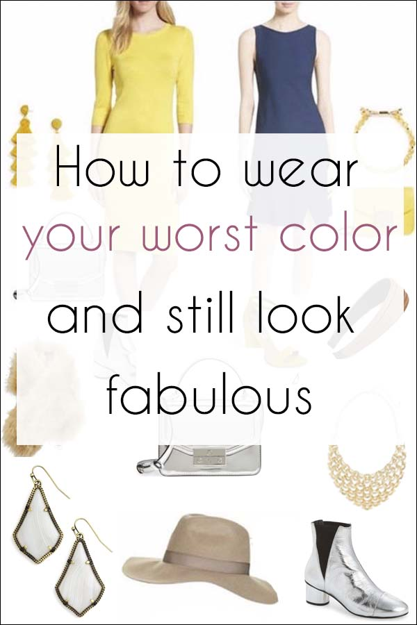 How to wear your worst color and still look fabulous | 40plusstyle.com