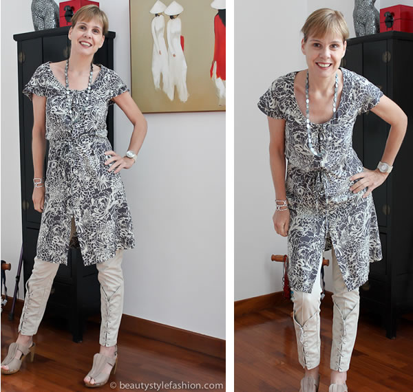 Hue Tran dress with Claudia strater pants