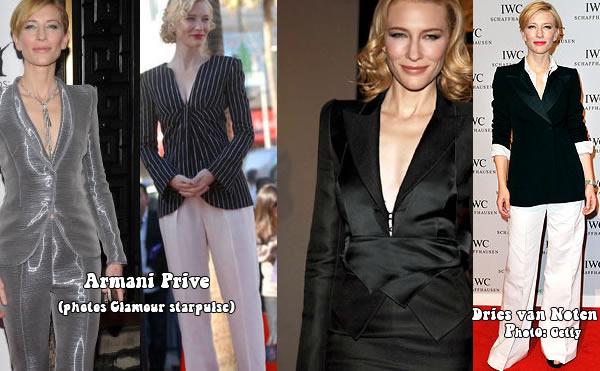 Cate Blanchett rocking the men's wear trend | 40plusstyle.com